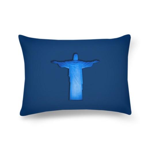 cristo-azu-l-retangular-pillow