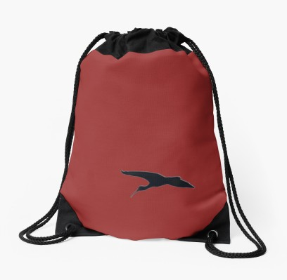Solo in red drawstring_bag